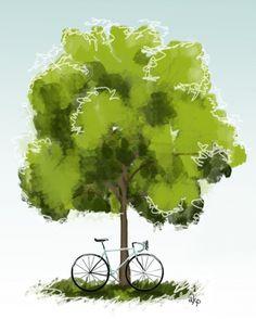 bianchi bike art