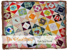 ocd: obsessive crafting disorder: a quilt for the plaid baby
