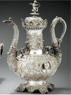 gorgeous silver teapot; I love imagining all the settings this teapot may have been used;
