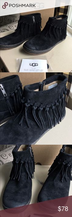 NWT Ugg Shenandoah fringe booties NWT uggs fringe booties. Comes with extra leather fringe and care card. UGG Shoes Ankle Boots & Booties