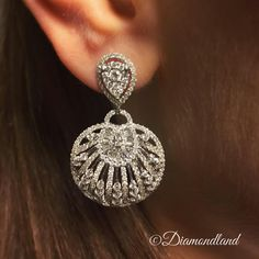 @diamondland.be_  Exclusive earrings ✨ Wearing jewels is a way to express the woman you are... without saying a word.