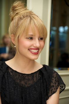 Dianna Agron's Updo