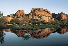 One of the world's most celebrated hideaways, The Boulders, A Waldorf Astoria Resort is nestled in the high Sonoran Desert foothills north of Scottsdale. 2 Championship golf courses, 160 luxurious casitas, and 61 villas and haciendas are sculpted into the spectacular natural terrain.