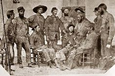 Non-commissioned officers, 19th Iowa Infantry, exchanged prisoners from Camp Ford, Texas. Photographed at New Orleans on their arrival