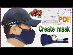Sewing face mask Making a face mask/Create mask pdf/ Sewing Hacks, Sewing Tutorials, Sewing Projects, Diy Mask, Diy Face Mask, Techniques Couture, Pocket Pattern, Fashion Mask, Mask Making