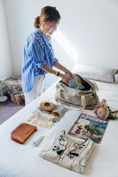 Lucy Laught packing The Catalina Deluxe.  Designed by Lo & Sons