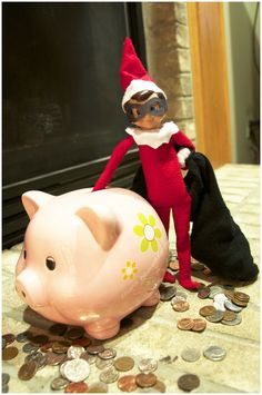 Elf on the Shelf Bandit - maybe in a few years...this would stress him out too much!!
