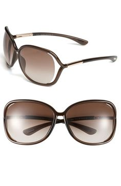 My favorite pair of Sunglasses... can't function without them!  Tom Ford 'Raquel' Oversized Open Side Sunglasses available at Nordstrom