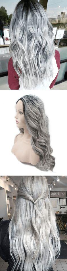 Long Silver / Grey hair Wig