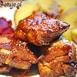 Pieczone żeberka Polish Recipes, Polish Food, Tandoori Chicken, Pork, Food And Drink, Diet, Cooking, Breakfast, Ethnic Recipes