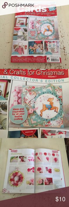 Cards & Crafts for Christmas Vol. 7 Softcover, new, Cards & Crafts for Christmas vol. 7. Special Collector's Edition. Easy to follow techniques:  paper piecing, stamping, quilting, punches, decoupage, templates, stitching, hybrid crafting & chipboard , wire & beads, due-cutting, off the page, distressing, handmade elements. Cards & Papercraft Other