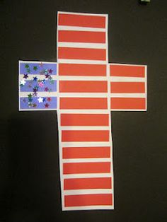 American cross craft. God Bless America!