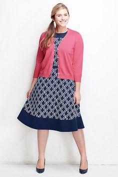 Women's Ponté A-line Dress - Pattern from Lands' End