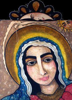 Guadalupe Sun and MoonRetablo by                               Virginia Maria Romero