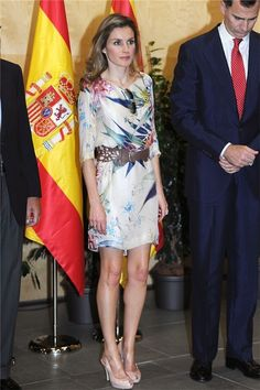 Queen Letizia. Zara Dress.