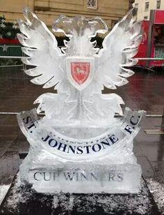 St Johnstone FC ice sculpture for Perth (Scotland) winter festival 2014