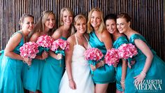Love the Aqua and Coral. @Elizabeth M photography