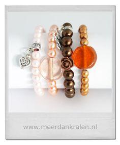 Eindeloos combineren... Verschillende armbandjes, verschillende kleuren... #Inspiratie