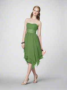 This is the dress that my bridesmaids will be wearing. I think they are so beautiful and it is in Forest Green.
