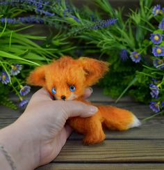 Ирина Чернявская Little Fox, Dear Friend, Crochet Hooks, Dinosaur Stuffed Animal, Crochet Patterns, Handmade Items, Teddy Bear, Stitch, Cute