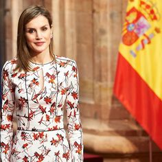 King Felipe and Queen Letizia of Spain attended an audience with 2015 Princess of Asturias Award winners of the University of Oviedo at the Reconquista Hotel on October 21, 2016 in the northern city of Oviedo, Spain.