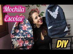 (40) Passo a Passo como fazer uma Mochila Escolar Completo - Gratuito - YouTube Diy Mochila, Mochila Jeans, Doll Videos, Backpack Pattern, Back Bag, Recycled Denim, Useful Life Hacks, Sewing Toys, Jansport Backpack