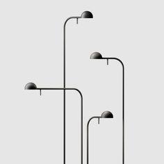 "whatdyoucallit: "" Japanese designer Ichiro Iwasaki for VIBIA - Pin Lamp "" Minimal Design, Modern Design, Contemporary Table Lamps, Minimalist Photography, Smart Design, Office Interior Design, Interior Accessories, Stores, Midcentury Modern"