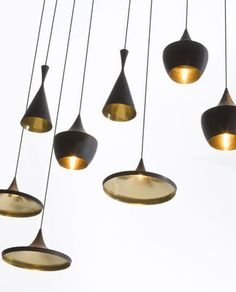 Beat Fat Pendant Black / gold by Tom Dixon