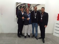 Mr. Fulvio Granocchia, Artist Helidon Xhixha, aritist Omar Hassan and Gallery Director Cristian Contini at Art Stage Singapore 2015,