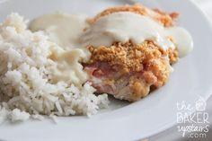 Easy Chicken Cordon Bleu and Coconut Rice