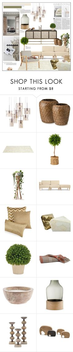 """Natural Tone"" by orietta-rose on Polyvore featuring interior, interiors, interior design, home, home decor, interior decorating, Somerset Bay, Hotel Collection, Fritz Hansen and Georg Jensen"