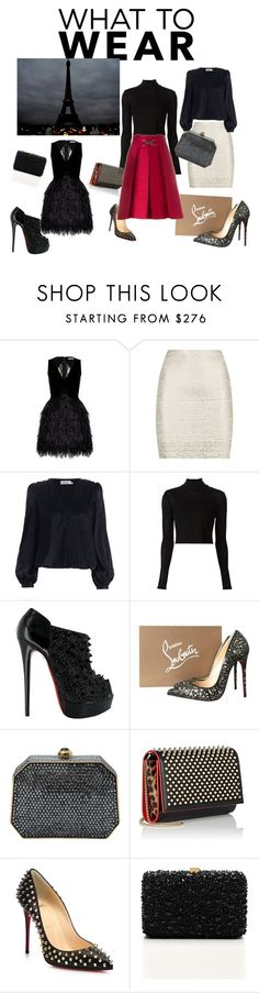 """Dinner and a Theater!"" by sincerelyyours78 on Polyvore featuring Alice + Olivia, BCBGMAXAZRIA, Rosetta Getty, Christian Louboutin, Judith Leiber, Elie Saab, CÉLINE, women's clothing, women and female"