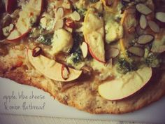 Apple, Blue Cheese, and Caramelized Onion Flatbread