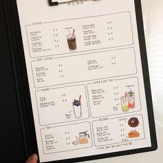 """전보라 on Instagram: """"⠀⠀⠀ 봄이라 그런지 메뉴판 제작 문의가 많아요:) 자세한 상담 후에 메뉴판 외에도 전체 브랜딩 디자인까지 가능합니다. ⠀⠀⠀ ⠀⠀⠀ 메뉴판 문의는 예시와 함께 디엠 보내주세요:) ⠀⠀⠀ ⠀⠀⠀ #카페메뉴판제작 #그림메뉴판 #식당메뉴판 #카페스타그램…"""" Menu Board Design, Cafe Menu Design, Cafe Shop Design, Food Menu Design, Restaurant Design, Speisenkarten Designs, Cafeteria Menu, Menue Design, Cafe Display"""