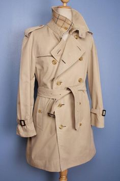 Beautiful vintage Burberry trench coat, refurbished to a modern look, $249