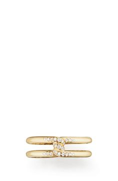 David Yurman Continuance Band Ring with Diamonds in 18k Gold, 6.5mm