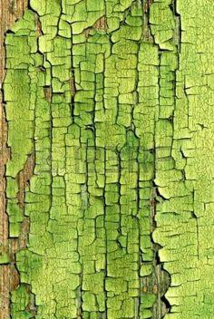 Un vieux bois peint vert craquelé surface Banque d'images - 1631679
