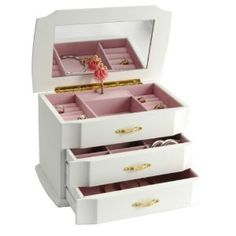 Children's Wooden Musical Ballerina Jewelry Box