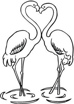 Couple Of Flamingo coloring page from Flamingos category. Select from 24652 printable crafts of cartoons, nature, animals, Bible and many more.