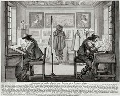 An Engraver and an Etcher at work (1643)