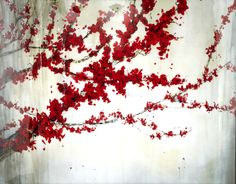 Red tree branches.