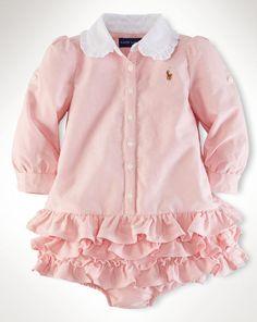 Cotton Oxford Shirtdress - Baby Girl Dresses & Skirts - RalphLauren.com