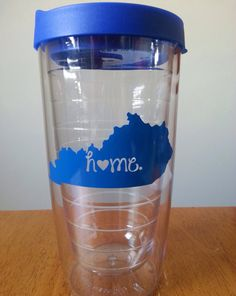 Kentucky home Tumbler by SincerelySunshine00 on Etsy, $8.00  ***I could totally make this with my cameo!***  AH! I need this!