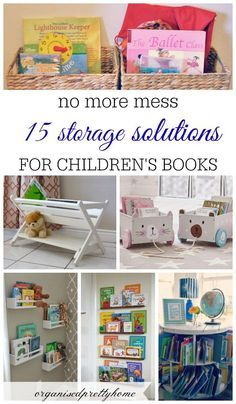 15 fun and awesome storage ideas to organize children's books in play room or bedroom. Get kids reading more. DIY spice racks, in bin, bookshelves, without shelves. - Organised Pretty Home #storebooks #kidsbookstorage #bookshelves #kids #reading #playroom #kidsbedroom #kidsbookstorageideas #ikea