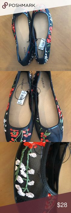 Torrid Flats Torrid Flats  New with tags  Size 10 Black mesh with floral pattern torrid Shoes Flats & Loafers