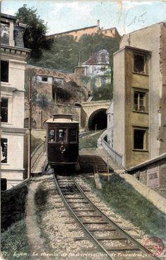 Lyon : Le chemin de fer à crémaillère de Fourvière fonds Cartes postales
