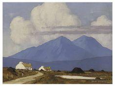Paul Henry (1876-1958) West of Ireland Cottages 1926-30 (26,7 x 35,5 cm)