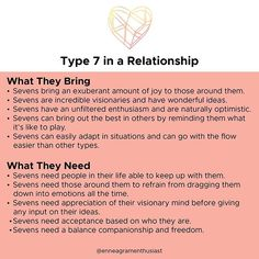 We're continuing in our Relationship Series and Part 1 of TYPE 4 focuses on the overview of what The Individualist will bring in a… Type 7 Enneagram, Mbti Personality, Personality Assessment, E Type, Enfp, Get To Know Me, Inspire Me, Psychology, Feelings