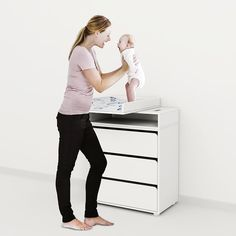Flexa set of 3 Drawers and Changing Table