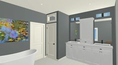 Chief Architect 3D Bathroom Rendering